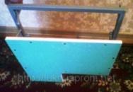 Люк невидимка под плитку с фигурным вырезом в створке