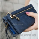 Клатч - кошелек «Кежуал» искусственная кожа высокого качества, синий цвет.
