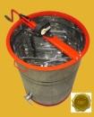 Медогонка Euro2 с поворотом кассет 2-х рамочная нержавеющая РКН с обручем