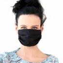 Многоразовая трехслойная маска Vona Dmytra Черная (ХБ-чор)