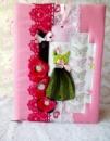 Блокнот ручной работы «Зелёное платье»