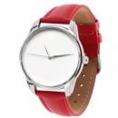 Часы наручные «Минимализм» красный