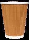 Бумажный стаканчик с гофро стенками (350 euro мл)