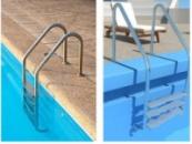 Лестница для бассейна с переливом Standart 4 ступенчатая из нержавеющей стали