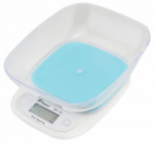 Электронные кухонные весы с чашей на 7 кг Domotec MS-125 Blue