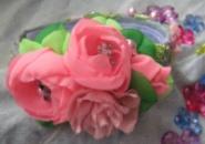 обруч с цветами, расшит бисером и бусинами