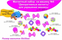 Магнитный набор на машину «Бантики» в Донецке