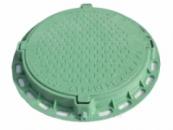 Люк смотровых колодцев полимерный садовый зеленый, з нагрузка 1,5 т
