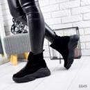 Ботинки женские Vivian черные замша