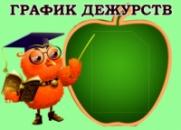 Стенд «График дежурств»
