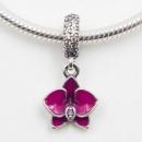 Шарм Пандора Орхидея подвеска посеребренная Шарм-подвеска Pandora Орхидея,