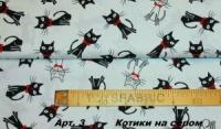 Польский хлопок Арт №3 «Котики на сером»