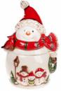 Банка для новогодних сладостей «Трио снеговиков» 2.5л керамическая