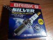 Свеча зажигания 2101-08, Таврия, 1102, 1103, 1105, Ланос, Сенс Brisk Silver под газ оборуд ГБО (комплект)