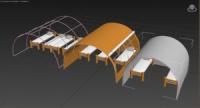 Тентово-каркасные палатки (жилые модульные блоки-модули)