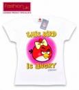 Футболки «Angry Birds» (Ангри бердс) белые для девочек, бренд «Fashion UK» (Англия)