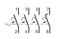 Автоматические выключатели Hager 6 кА, хар-ка С, 4 полюса