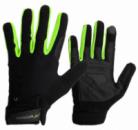 Рукавички для кроссфіту PowerPlay Hit Full Finger Чорно-Зелені S