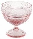 Набор 6 стеклянных креманок Siena Toscana 325мл, розовое стекло