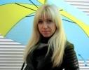 Зонт трость крючок Желто-Голубой