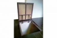 Потайной напольный люк под плитку на газовых лифтах тип Плита