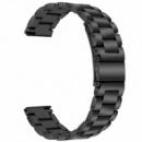 Ремешок BeWatch стальной браслет универсальный 22 мм Черный (1020401.u)