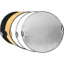 Фото отражатель круглый серебро золото 5 в 1 110см (с ручками)