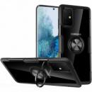TPU+PC чехол Deen CrystalRing под магнитный держатель (opp) для Samsung Galaxy A71 Бесцветный / Черный