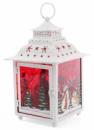 Новогодний фонарь-подсвечник «Снеговики» 18х18х28.5см, белый