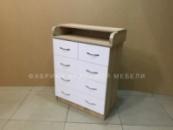 Комод пеленальный Малыш 3+2 ящика, цвет Сонома, Белый