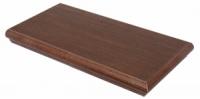 Угловые ступеньки 60х30 см из плитки с капиносом на лестницы и крыльцо «MOODWOOD» WENGE TEAK ZALGXP8