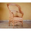 Кресло плетеное из лозы «Капелька» (Развернутое)