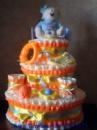 Торт из подгузников « Ми Тую - девочка»