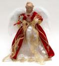 Игрушка верхушка на елку «Ангел в красном» 40см
