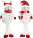 Новогодняя мягкая игрушка «Веселый снеговик» 62см