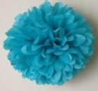 Помпон 35 см голубой