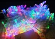 Гирлянда светодиодная LED 100,цвет: микс(4 цвета),8м.