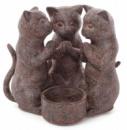 Подсвечник декоративный «Молитва котят» 14см, полистоун