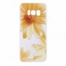 TPU чехол матовый soft touch color для Samsung G955 Galaxy S8 Plus Желтые Ромашки