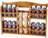 Набор для специй Renberg 14 емкостей на деревянной полке (RB-4252_psg)