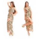 Платье «Хороший вкус »-розовый ,оранж,малина,скл№1