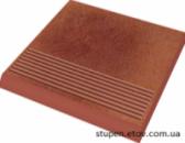 Ступенька рельефная простая структурная TAURUS ROSA 30х30