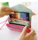 Женский Бумажник кошелек для Galaxy S2 S3 iphone 4S 4 5 +