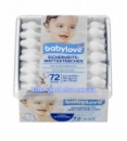Палочки ватные с ограничителем Babylove Sicherheits Wattestäbchen (для младенцев) 72 шт.