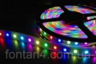 Светодиодная лента RGB 5050 3 цвета 5м 300 диодов.