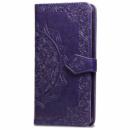Кожаный чехол (книжка) Art Case с визитницей для Samsung Galaxy M20 Фиолетовый