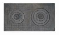 Плита чугунная 2-х конфорочная 400х700