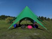 Аренда палатки Звезда зеленая. Тент в аренду