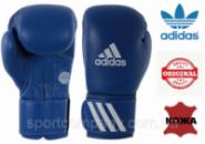 Перчатки для бокса Adidas с аккредитацией WAKO (кикбоксинг) из нат. кожи (ADIWAKOG1-BL, синий)
