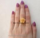 Кольцо «Рита»  роза, под золото размер регулируется.